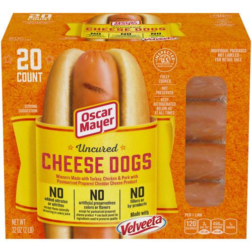 OSCAR MAYER Uncured Velveeta Cheese Dogs 32 oz Box