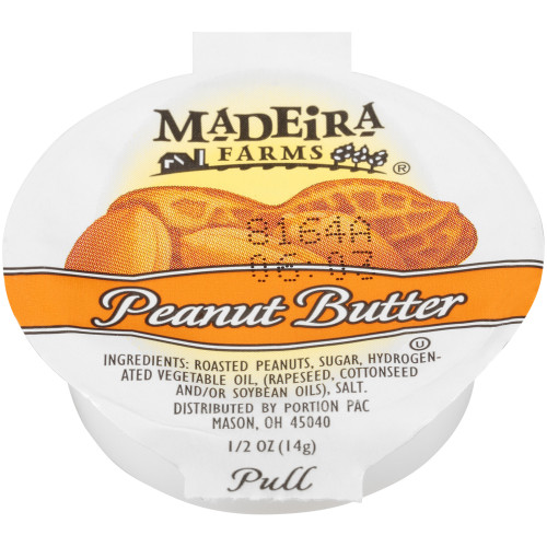 MADEIRA FARMS Single Serve Peanut Butter, 0.5 oz. Cups (Pack of 100)