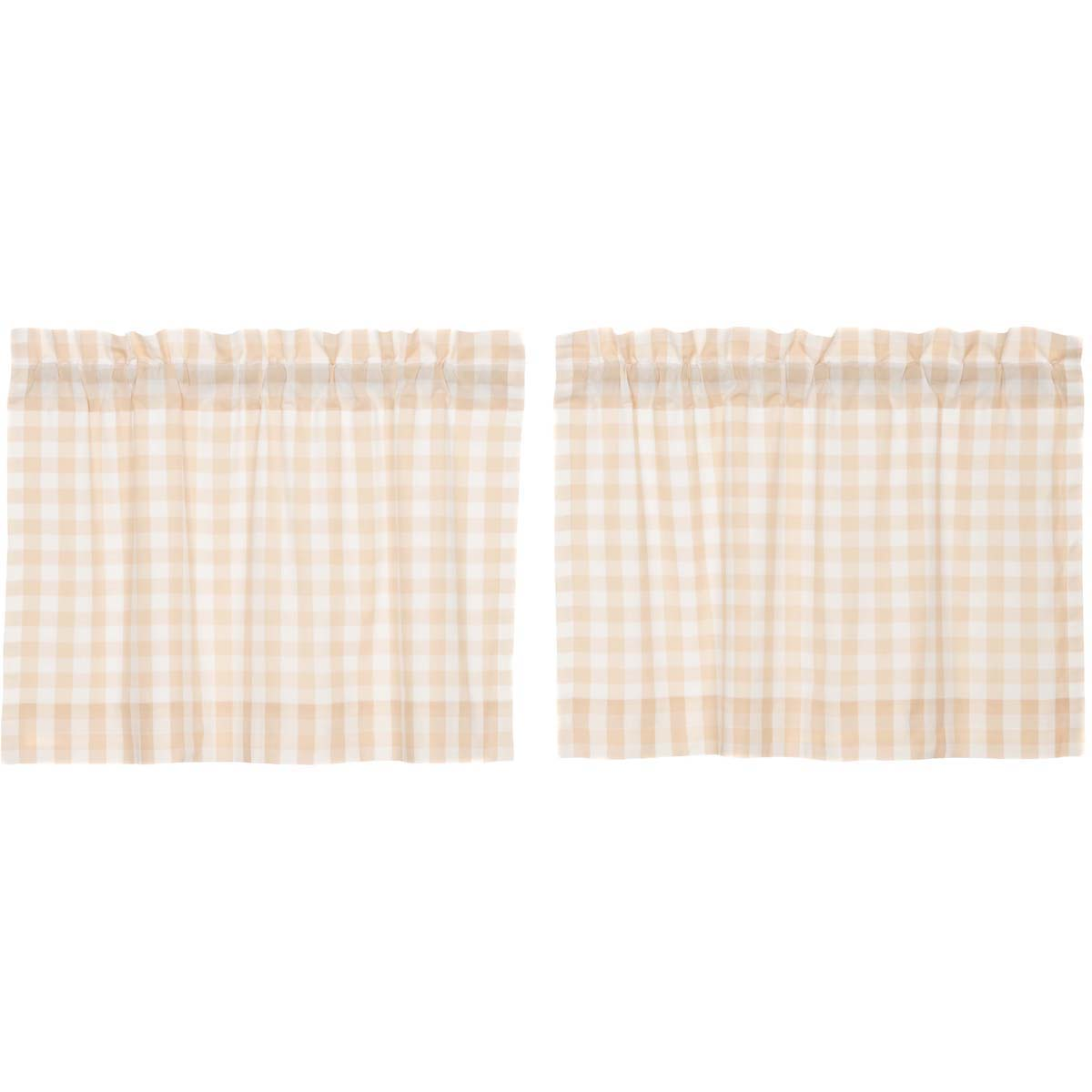 Annie Buffalo Tan Check Tier Set of 2 L24xW36