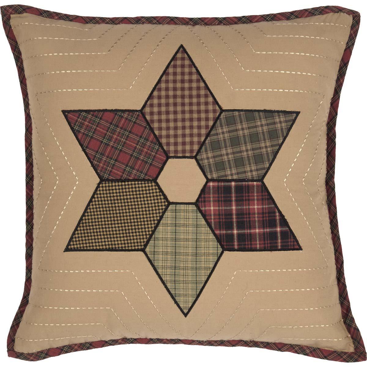 Tea Star Patchwork Pillow 18x18