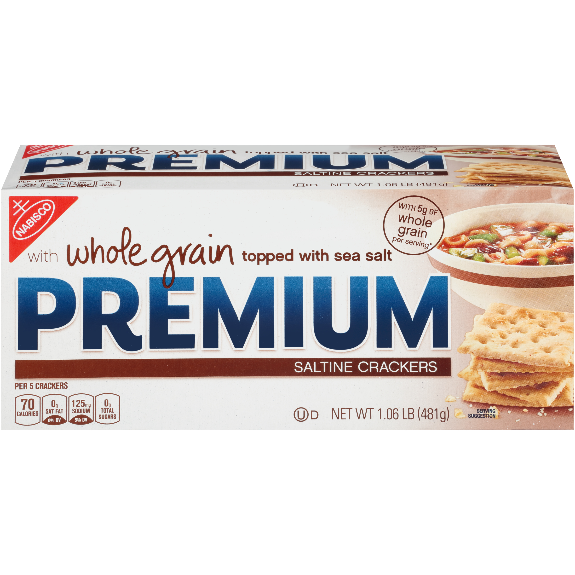 PREMIUM Whole Grain Crackers 1.06 lb