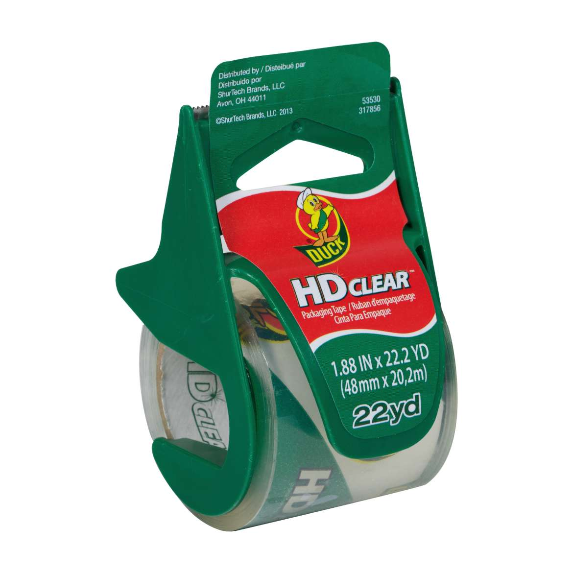 HD Clear™ Heavy Duty Packaging Tape with Dispenser - Clear, 1.88 in. x 22.2 yd. Image