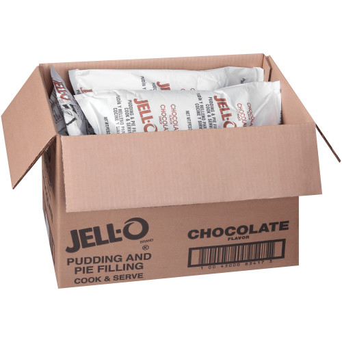 JELL-O Chocolate Pudding & Pie Filling, 72 oz. (Pack of 6)