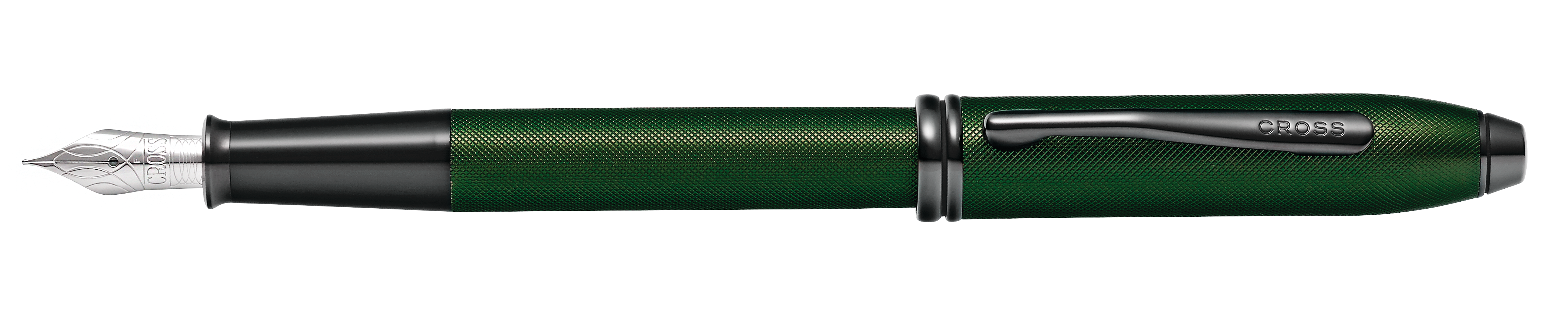Townsend Matte Green PVD Micro-knurl Fountain Pen