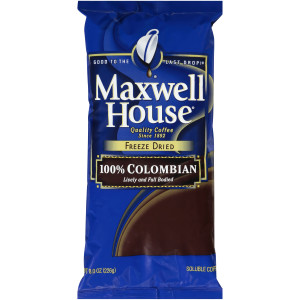 MAXWELL HOUSE 100% Colombian Freeze-Dried Coffee, 8 oz. Bag (Pack of 8) image