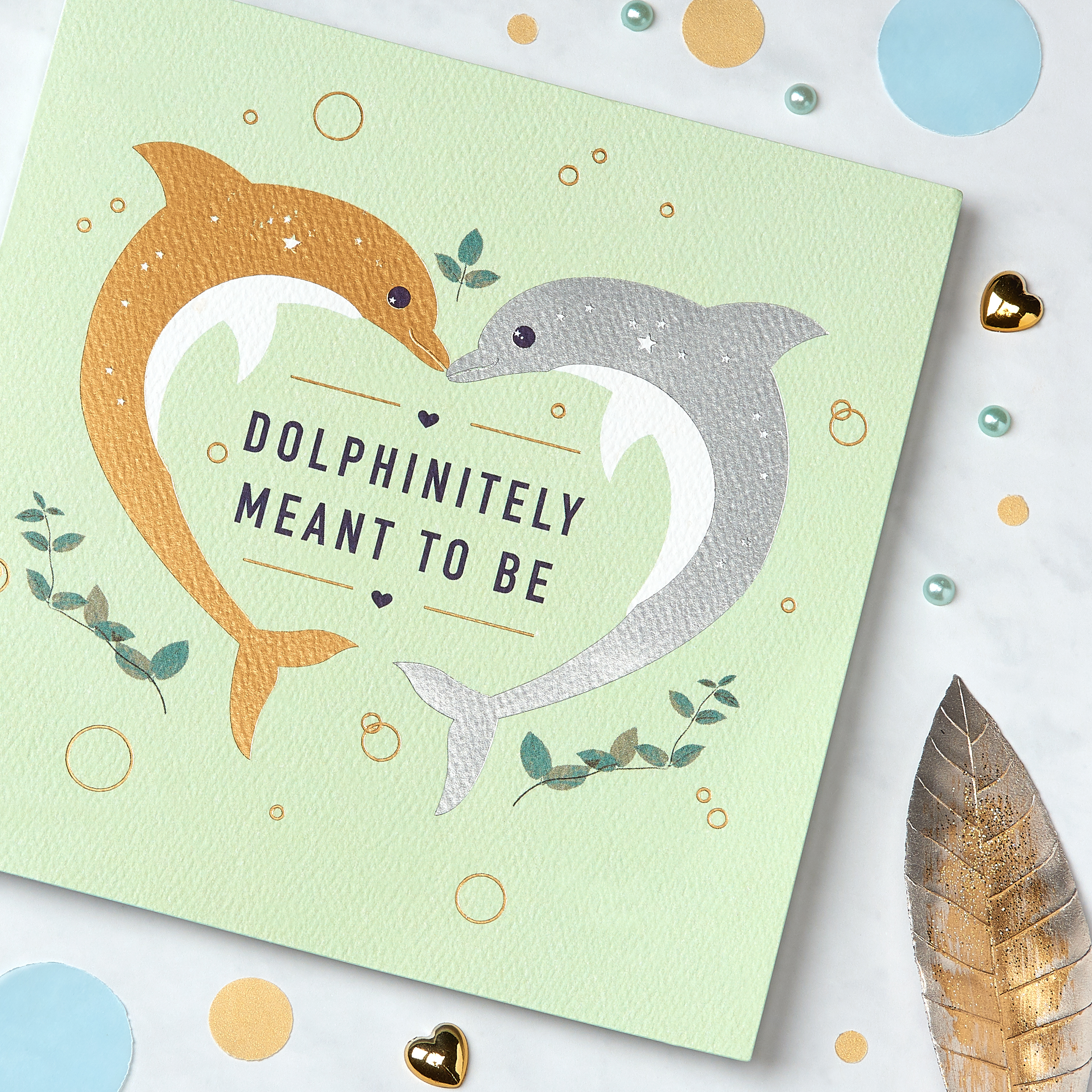 Dolphins Greeting Card for Couple - Engagement, Wedding, Anniversary image