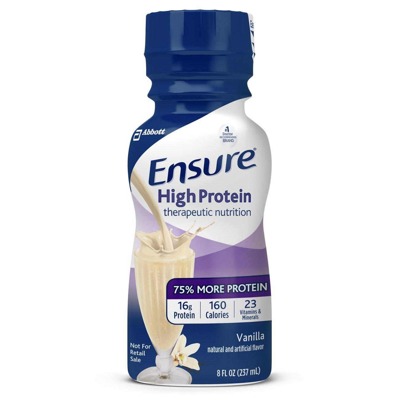 Ensure High Protein Vanilla Flavor 8 oz. Bottle Ready to Use, 64136 - EACH
