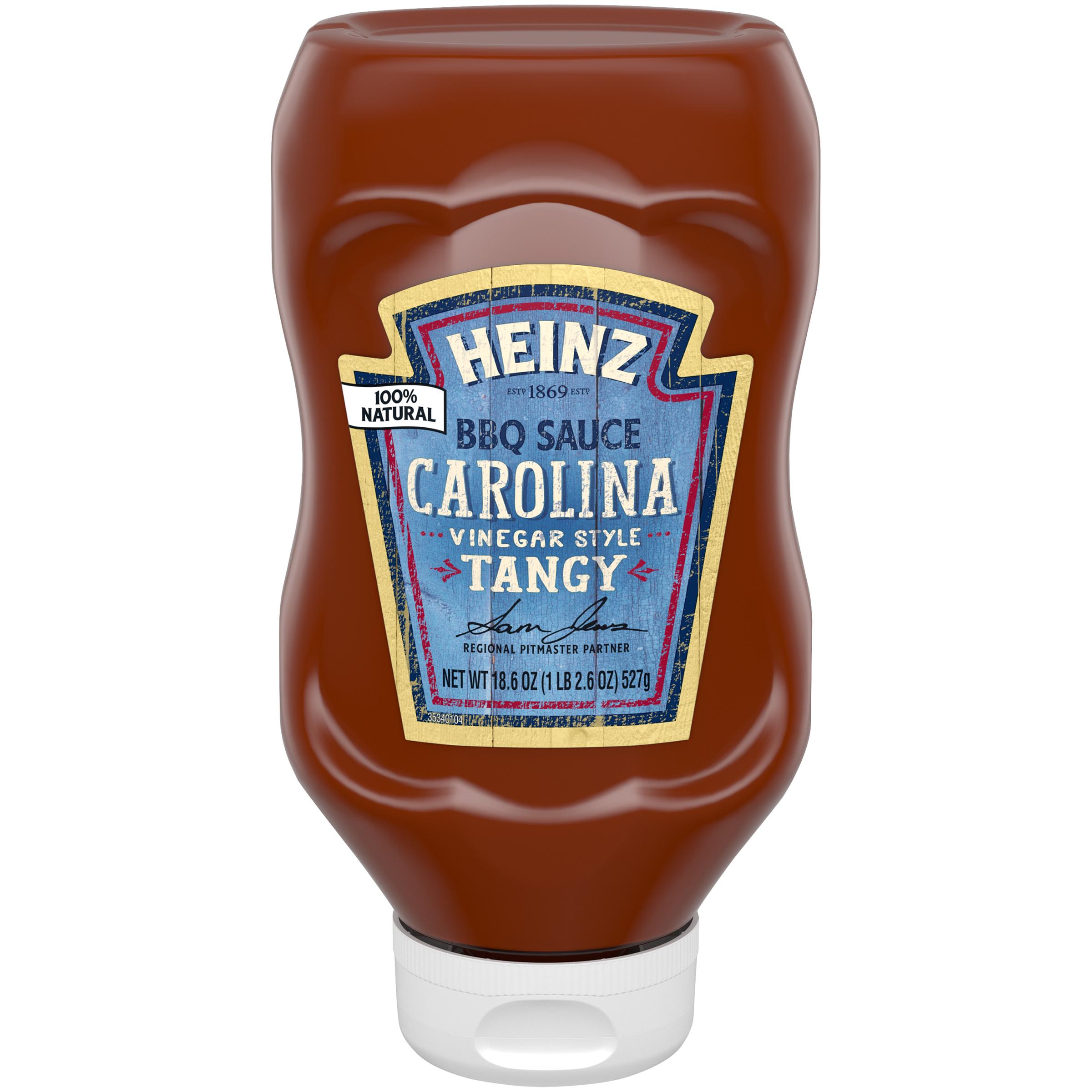 Heinz Carolina Vinegar Style Tangy BBQ Sauce 18.6 oz Bottle image