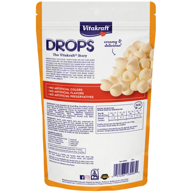 Back-Image showing Drops with Peanut