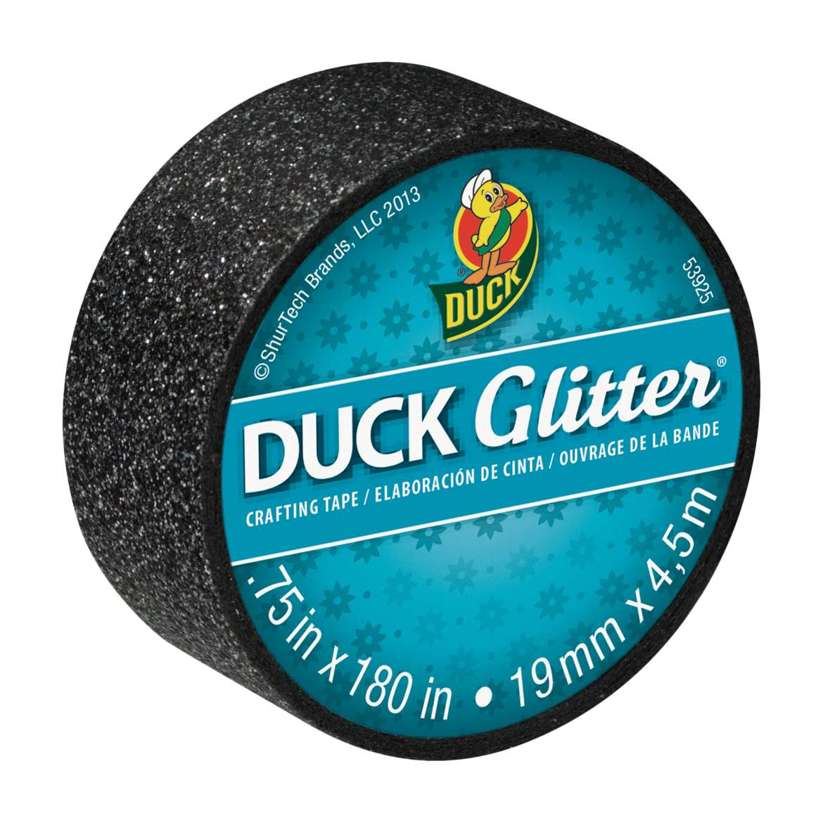 Duck Glitter® Crafting Tape - Black, .75 in. x 5 yd. Image