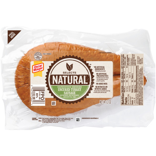 Oscar Mayer Natural Uncured Turkey Sausage, 13 oz