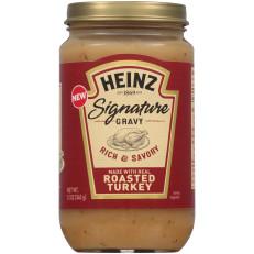 Heinz Signature Rich & Savory Roasted Turkey Gravy 12 oz Jar image