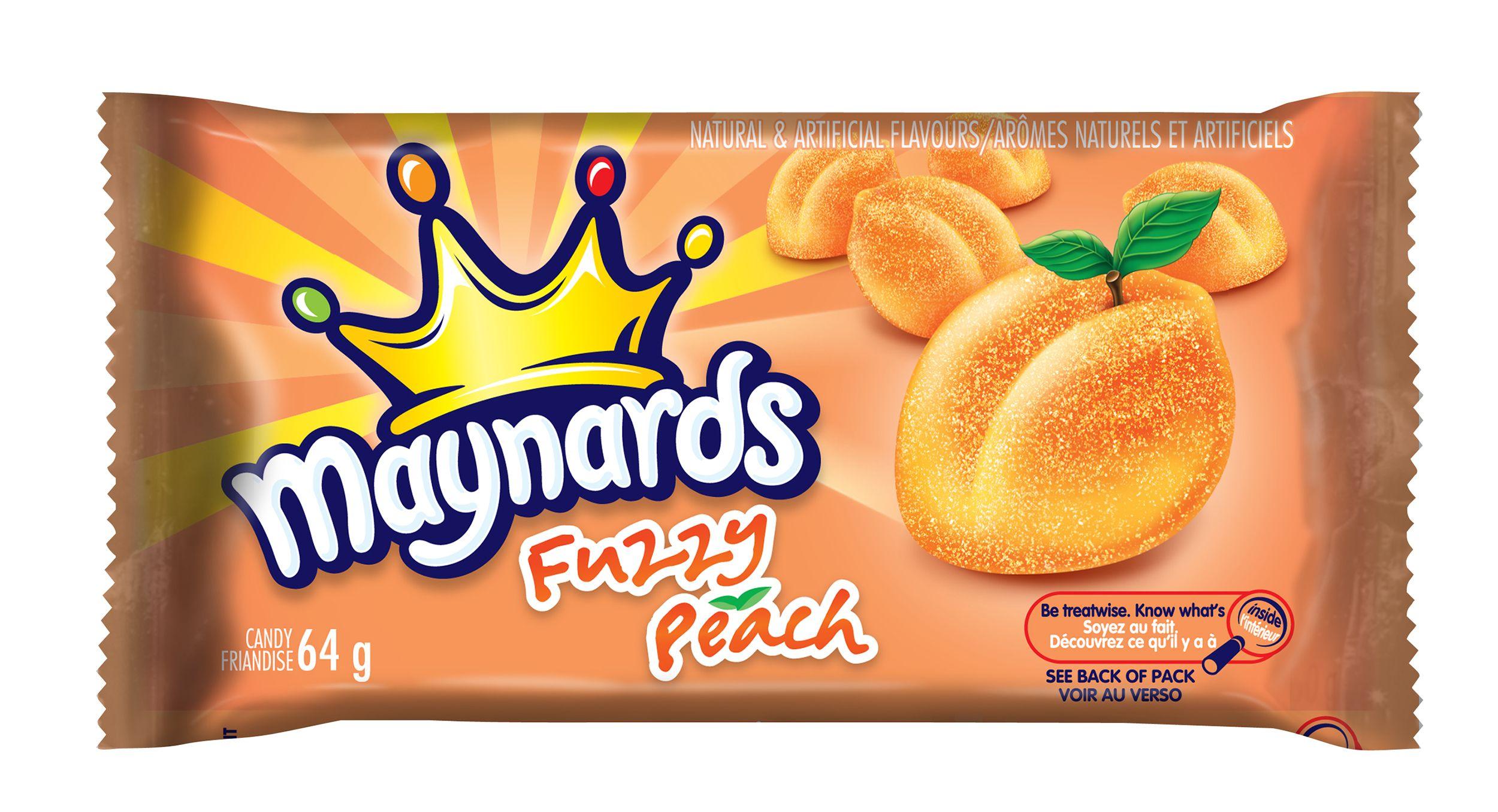 Maynards Fuzzy Peach Peach Soft Candy 64 G