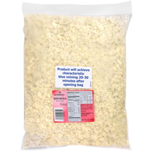 Athenos Gorgonzola Crumbles, 5 lb.