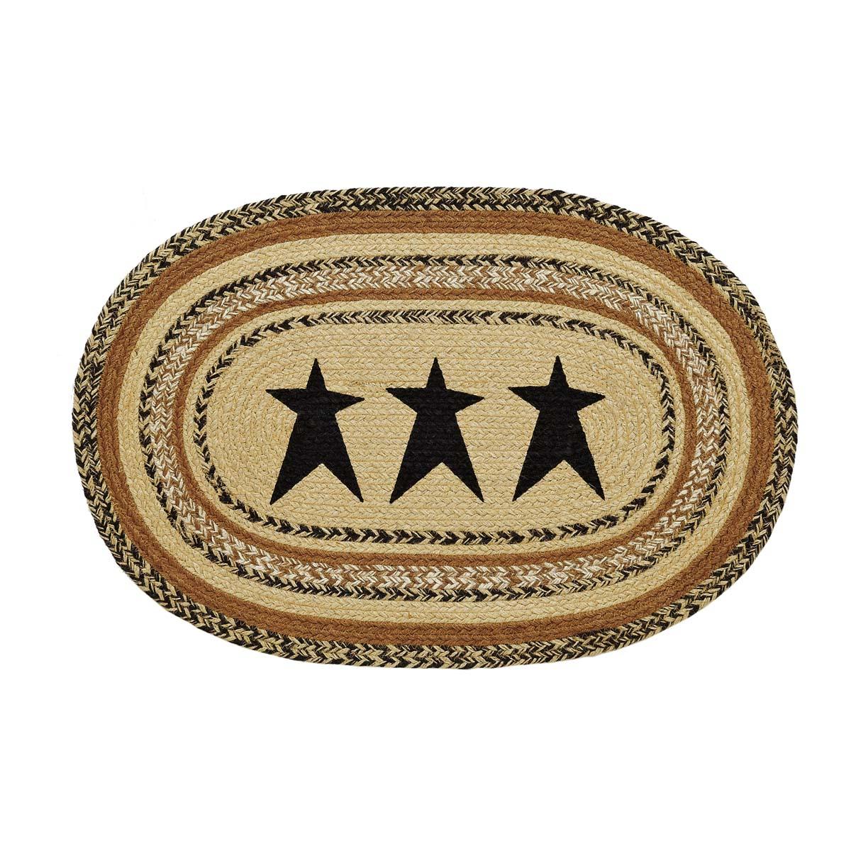 Kettle Grove Jute Rug Oval Stencil Star 20x30