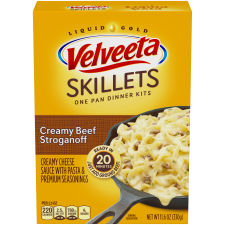 Velveeta Cheesy Skillets Creamy Beef Stroganoff Dinner Kit 11.6 oz Box