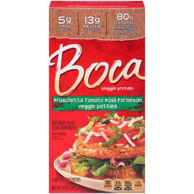 Boca Bruschetta Tomato Basil Parmesan Veggie Patties 4 count Box