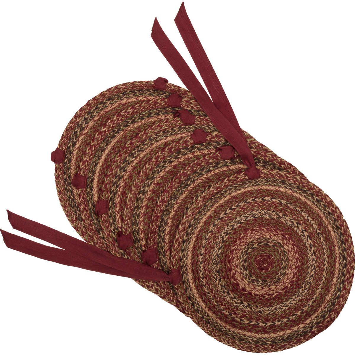 Cider Mill Jute Chair Pad Set of 6