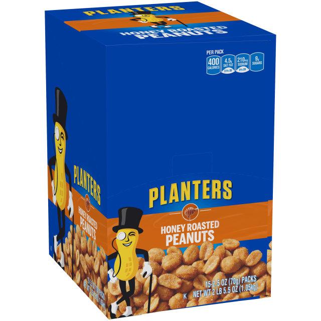 Planters Honey Roasted Peanuts 15-2.5 oz Packs