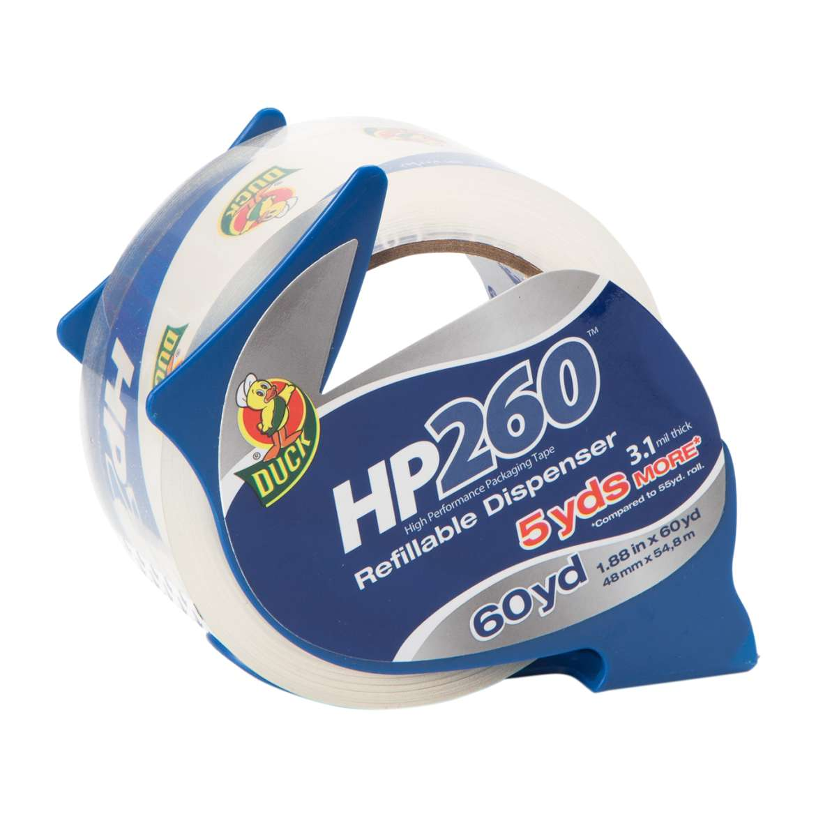 HP260™ Packaging Tape with Dispenser - Clear, 1.88 in. x 60 yd. Image