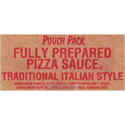 HEINZ Prepared Traditional Pizza Sauce, 105 oz. Pouch (Pack of 6)
