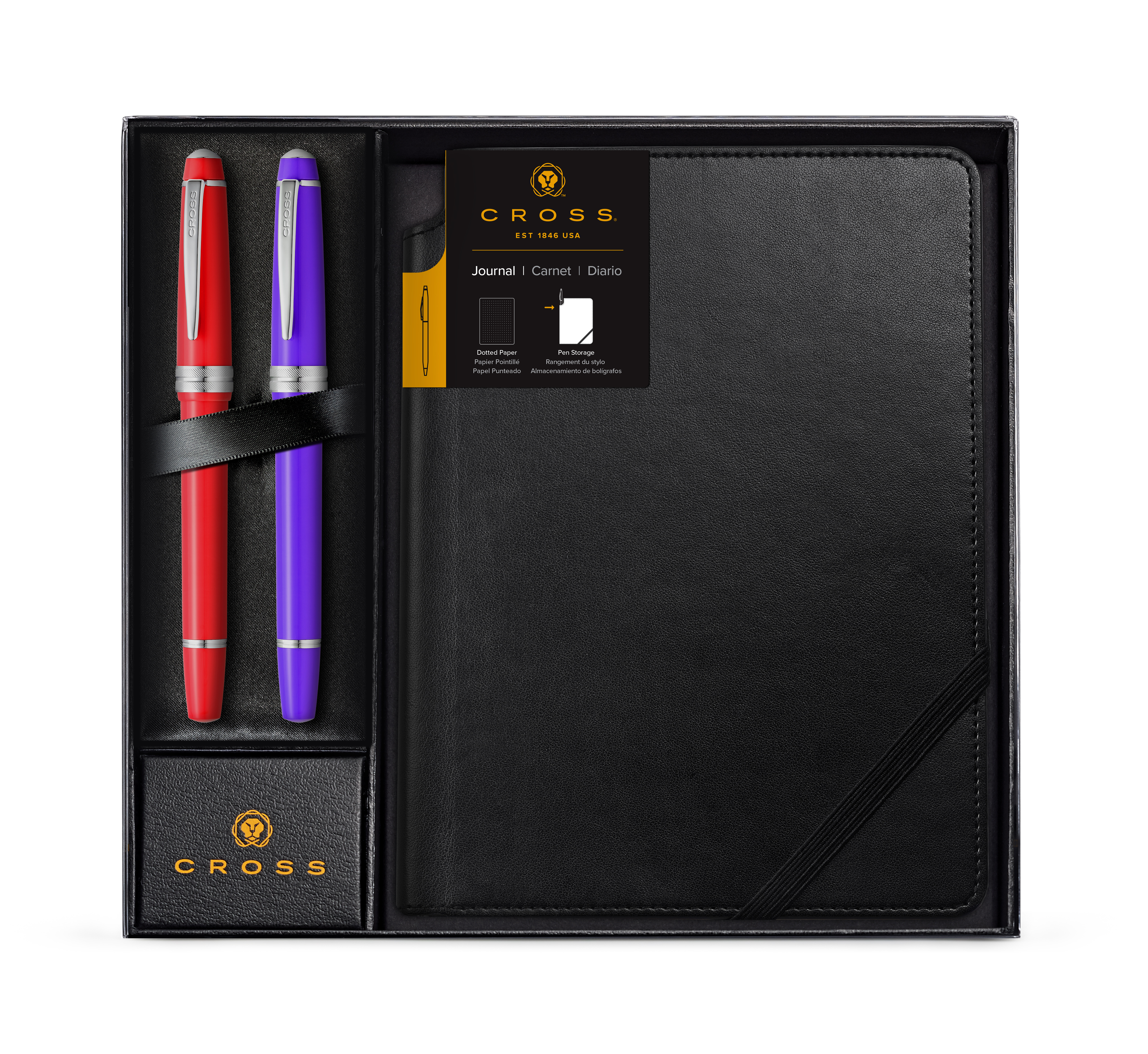 Dotted Journal Gift Set with Two Bailey Light Rollerball Pens