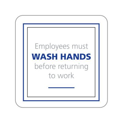 Dispenser Label - Wash Hands
