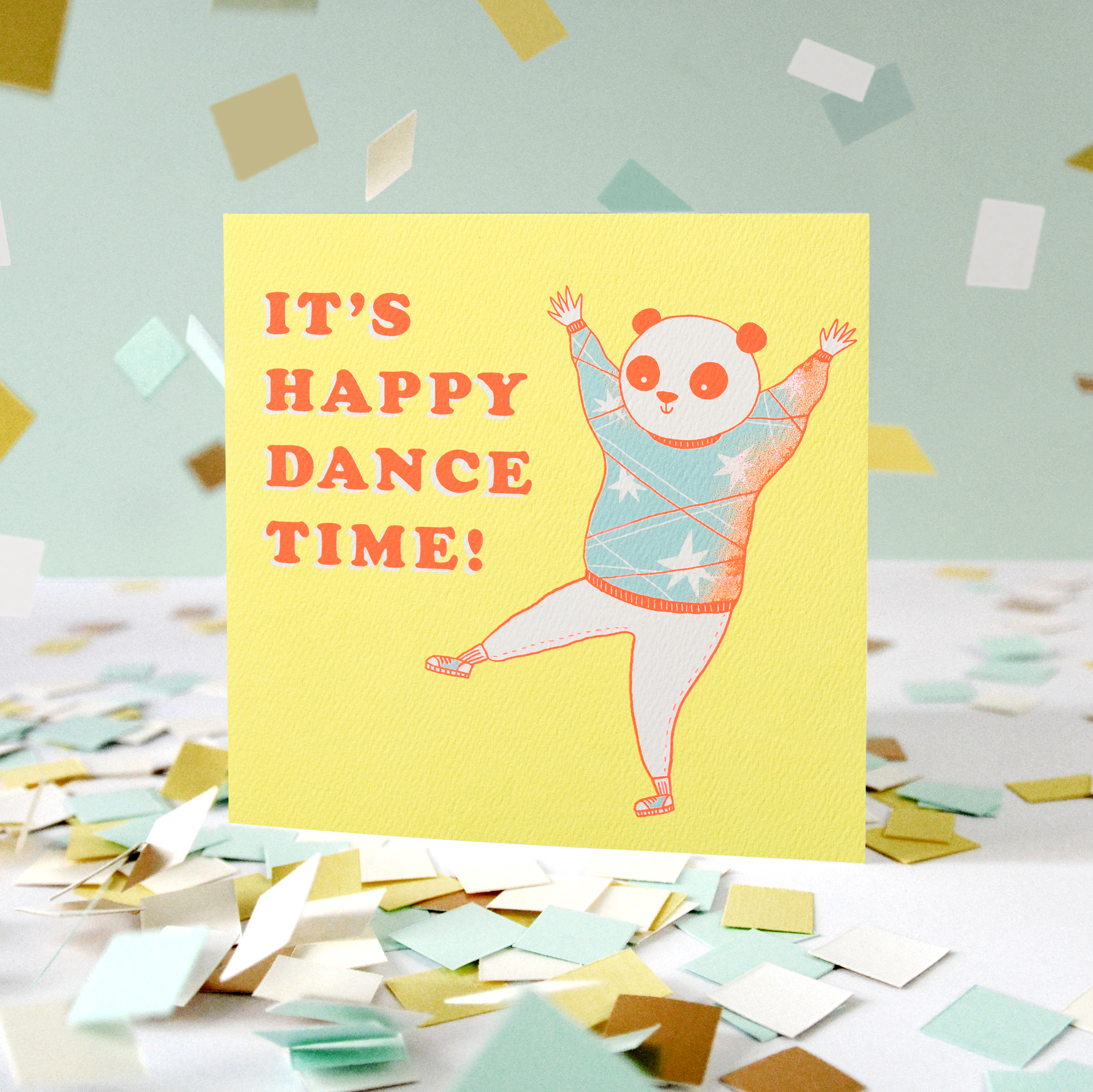 Happy Dance Greeting Card - Birthday, Thinking of You, Encouragement, Congratulations image