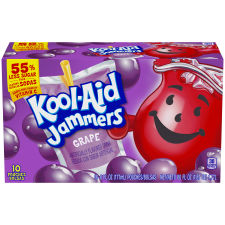 Kool-Aid Jammers Grape Ready-to-Drink Soft Drink 10 - 6 fl oz Packets