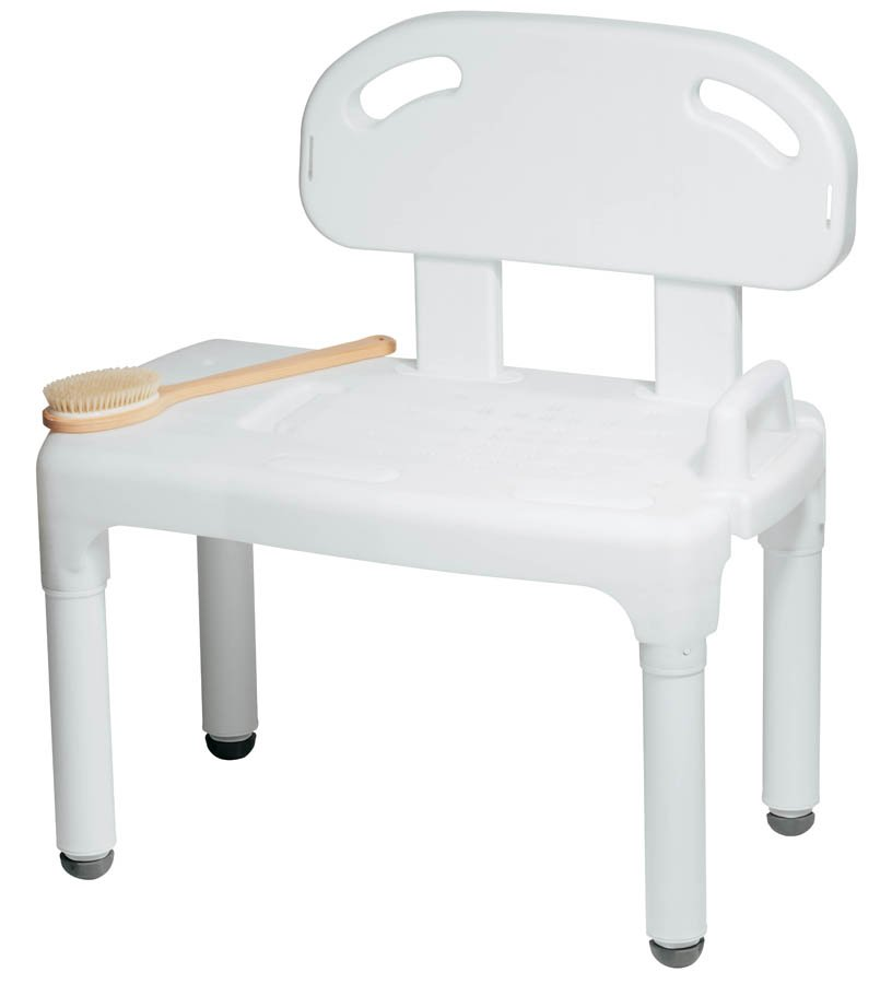 Carex Bath Transfer Bench 17-1/2 to 22-1/2 Inch Height Range 17-1/2 to 22-1/2 Inch Height Range 400 lbs. Weight Capacity Without Arms, FGB170C0 0000 - EACH