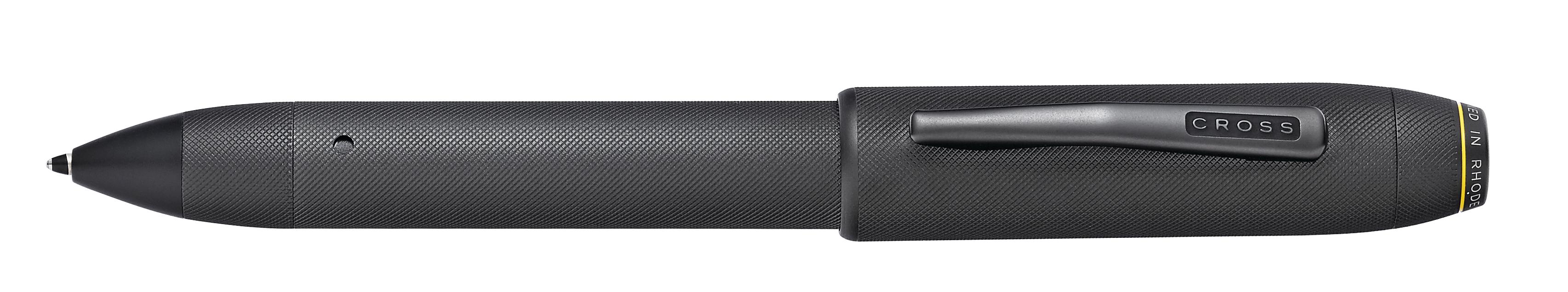 Tech Pro Black Micro-knurl Fine-tip Active Stylus and Ballpoint Pen