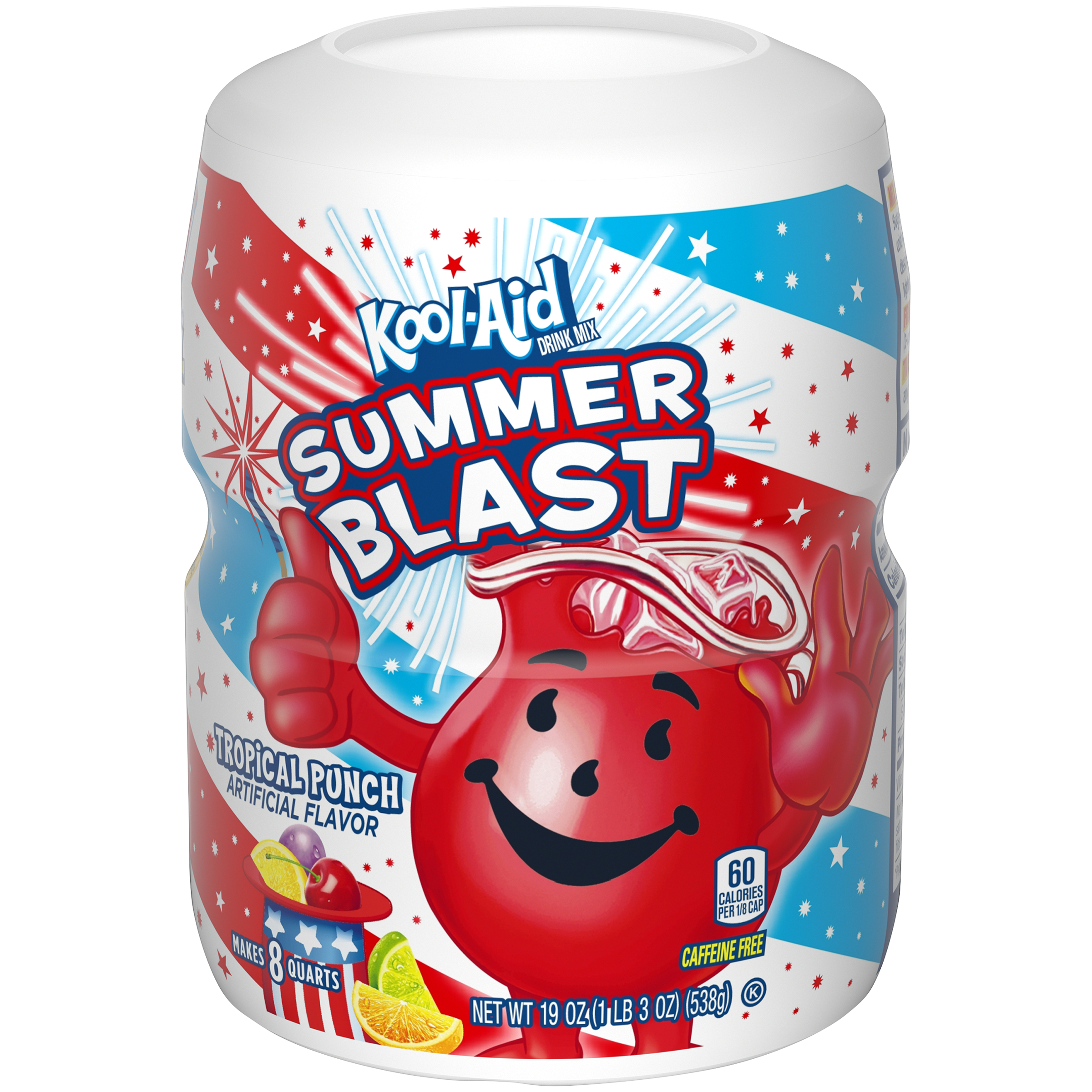 Kool-Aid Tropical Punch Drink Mix 19 oz. Canister image