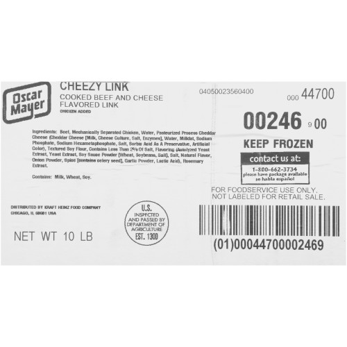 OSCAR MAYER Cheezy Link (5:1, 10 lb. Case)