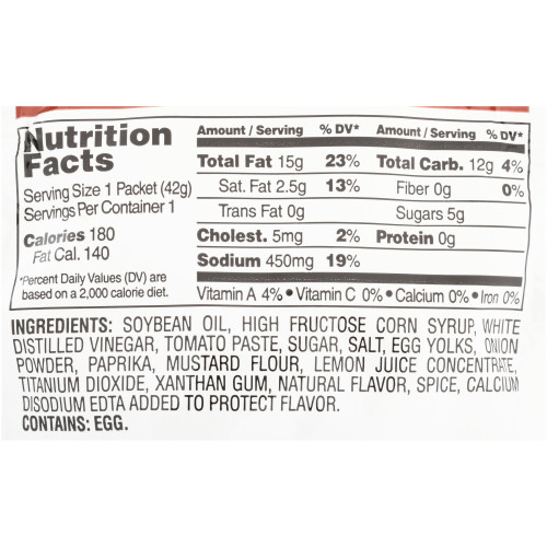 HEINZ Single Serve French Salad Dressing, 1.5 oz. Packets (Pack of 60)