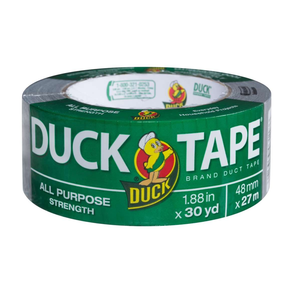 All Purpose Duck Tape® Brand Duct Tape - Silver, 1.88 in. x 30 yd. Image