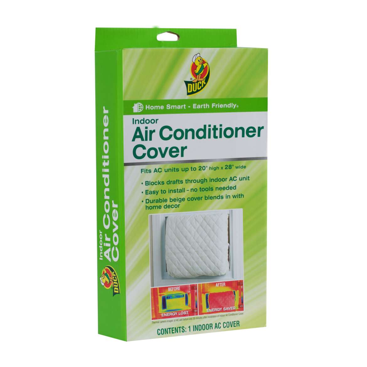 Duck® Brand Indoor Air Conditioner Cover - White, 20 in. x 28 in. Image