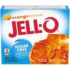 Jell-O Orange Sugar-Free Gelatin 0.3 oz Box