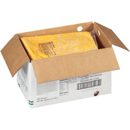 QUALITY CHEF Macaroni & Cheese, 7 lb. Frozen Bag (Pack of 4)