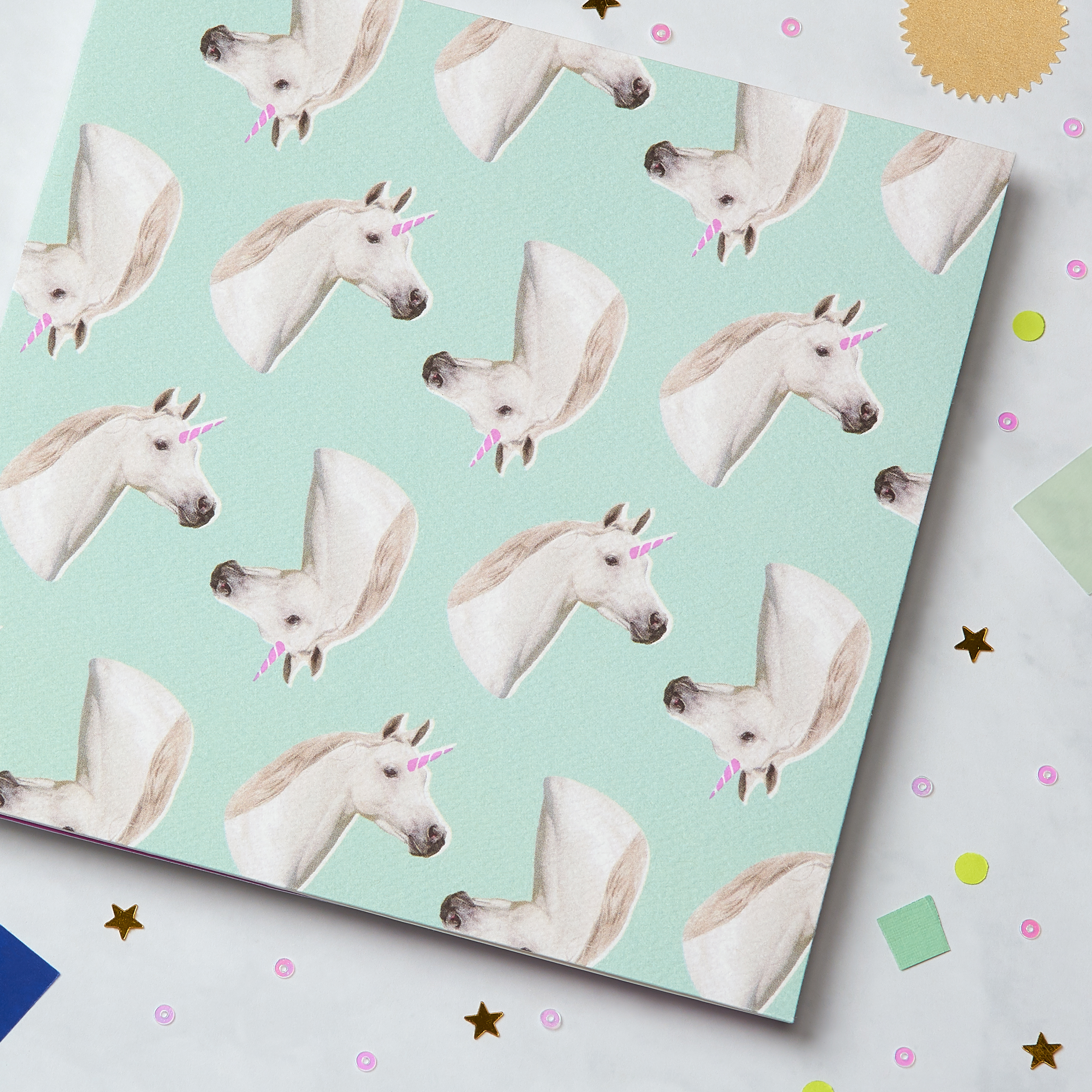 Unicorns Blank Greeting Card - Birthday, Friendship, Thinking of You image