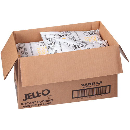 JELL-O Vanilla Instant Pudding & Pie Filling, 28 oz. Pouch (Pack of 12)