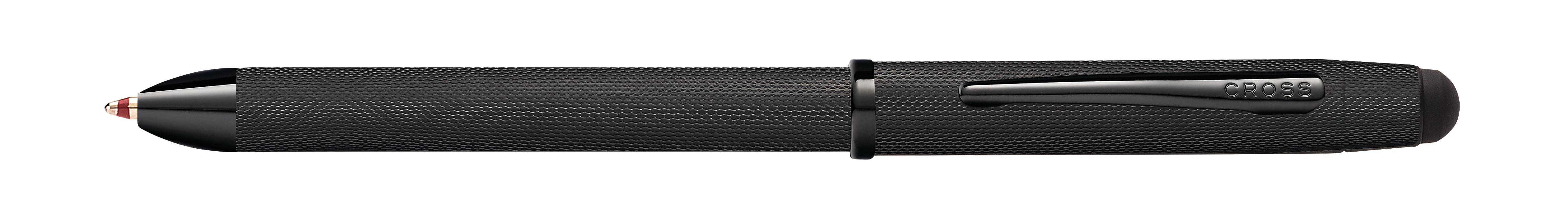 Tech3+ Brushed Black PVD Multifunction Pen