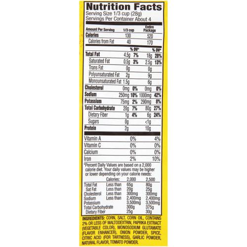 CORNNUTS Chile Picante Con Limon Crunchy Corn Kernels, 4 oz. Bag (Pack of 12)