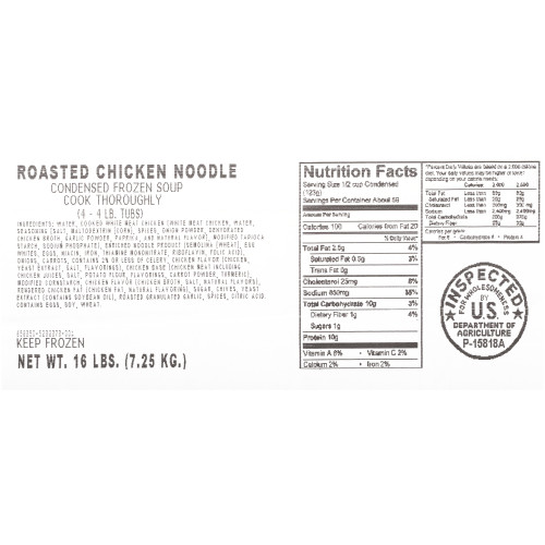 HEINZ CHEF FRANCISCO Roasted Chicken Noodle Soup, 4 lb. Tub (Pack of 4)