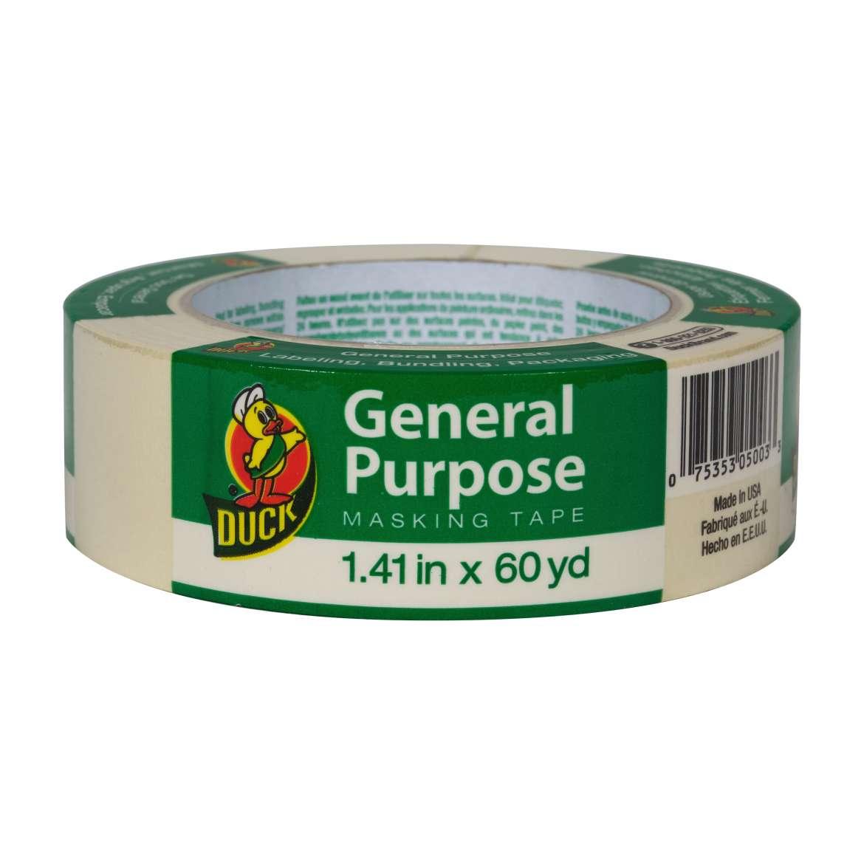 Duck® Brand General Purpose Masking Tape - Beige, 1.41 in. x 60 yd. Image