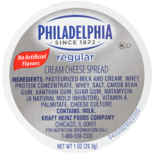 PHILADELPHIA Original Cream Cheese Spread, 1 oz. Cup (Pack of 100)