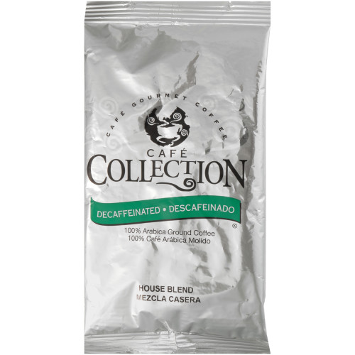 CAFÉ COLLECTIONS House Blend Roast & Ground Decaf Coffee, 1.7 oz. Bag (Pack of 150)