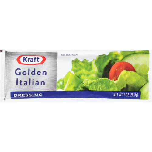 KRAFT Single Serve Golden Italian Salad Dressing, 1 oz. Packets (Pack of 100)