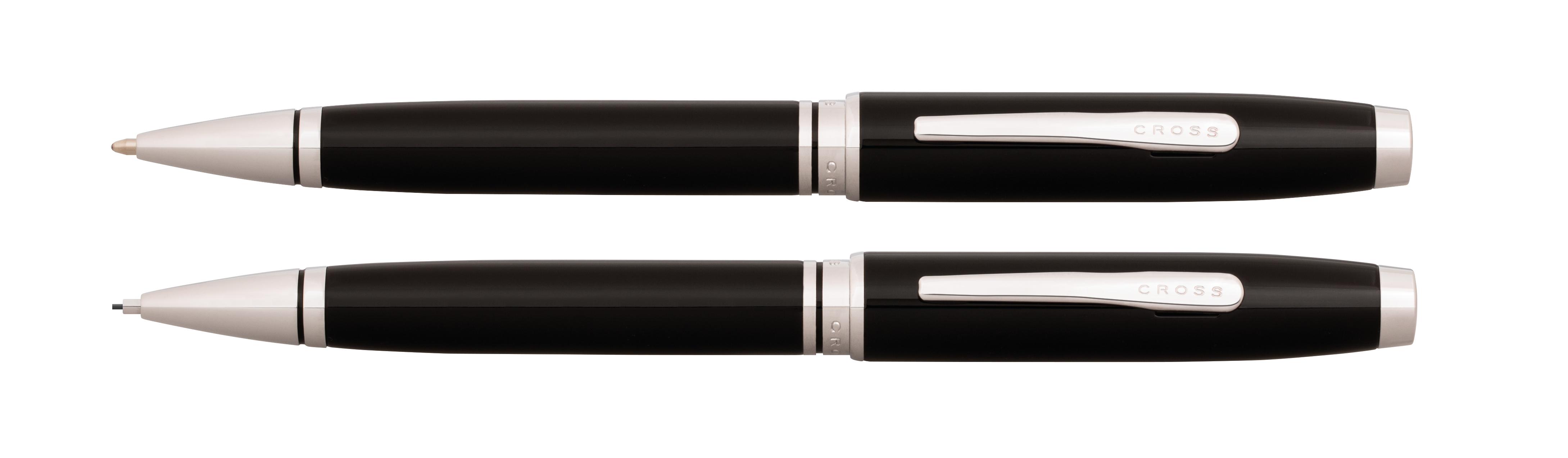 Coventry Black Lacquer Pen and Pencil Gift Set