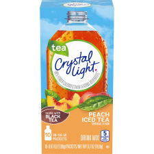 Crystal Light On-the-Go Peach Iced Tea Drink Mix 10 - 0.07 oz Packets
