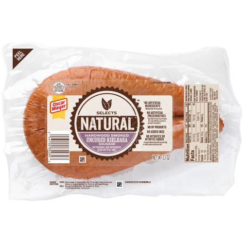 OSCAR MAYER Natural Hadwood Smoked Uncured Kielbasa Sausage 13 oz